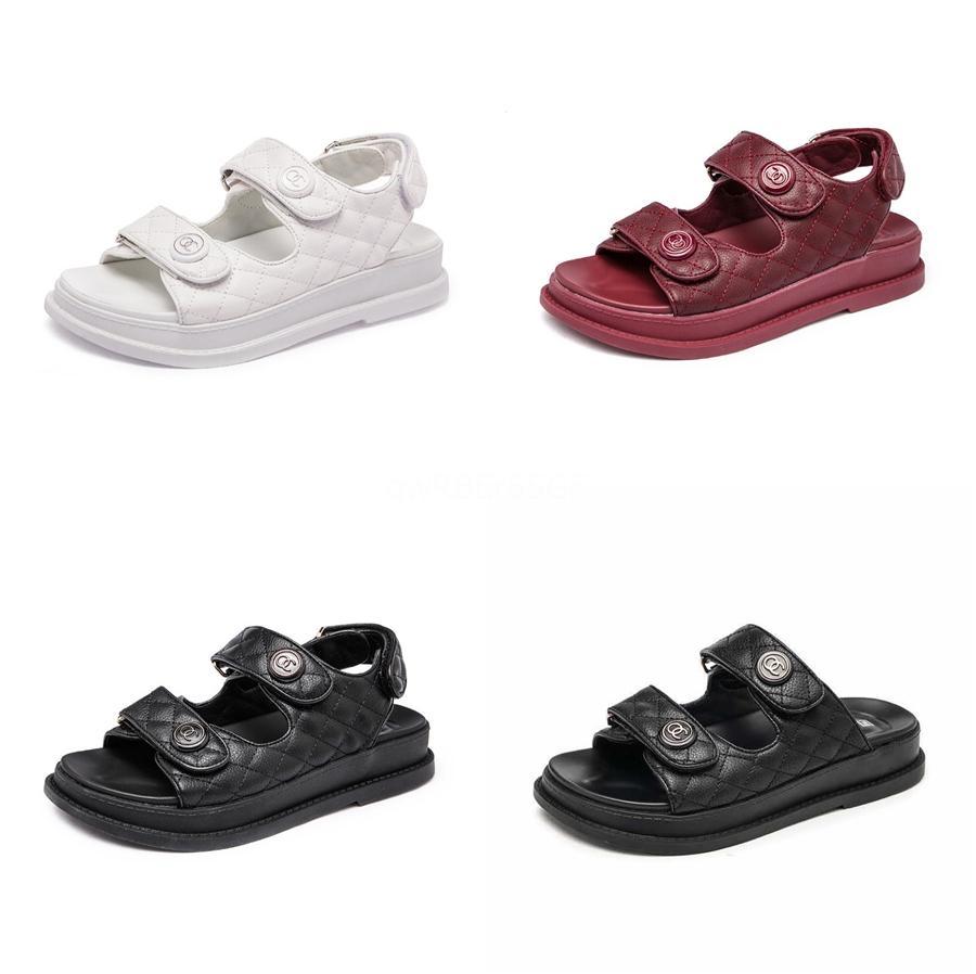 Flats Ayakkabı Deri Gladyatör Zapatos Mujer Yaz Sandalet Kadınlar Bilek Kayışı Femme Sandale 2020 Terlik Plaj Ayaklı T200605 # 359 Floplar