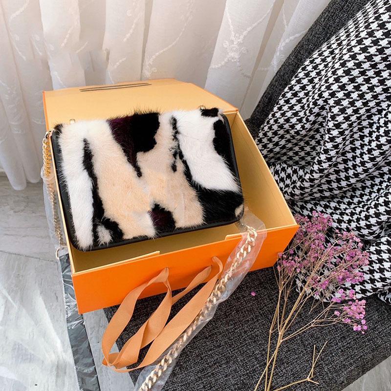 Sonbahar ve kış peluş omuz çantası el çantası 2020 yeni dalga vahşi Messenger çanta tasarımcısı lüks çanta çantalar zincir tarzı fashion7911 #