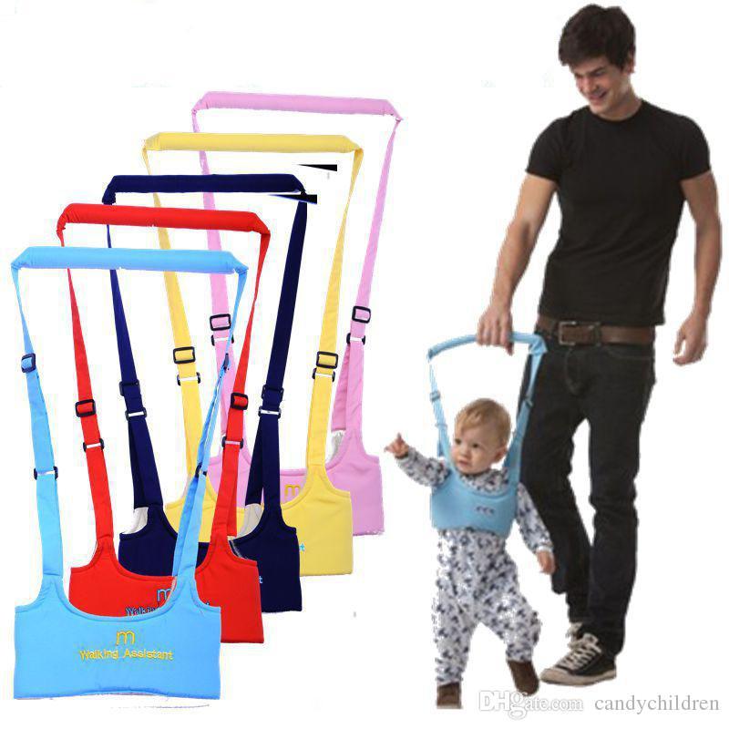 الرضع الجديد الآمن المشي حزام قابل للتعديل المشي حزام المقاود طفل التعلم مساعد طفل C275 السلامة