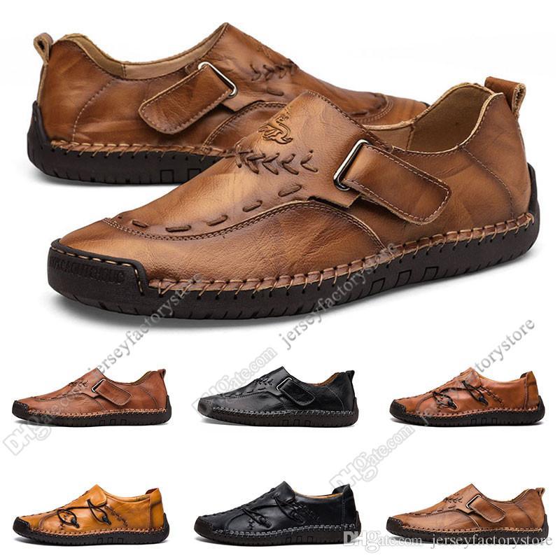 nouvelles chaussures pour hommes de main occasionnels mis les pieds pois Angleterre chaussures en cuir chaussures hommes bas de grande taille 38-48 Trente