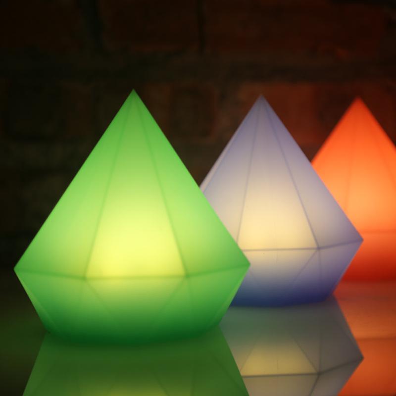 Veilleuse LED Silicone 3D Diamond Touch interchangeable pour lampes de nuit à piles pour la chambre à coucher, lampes de table USB