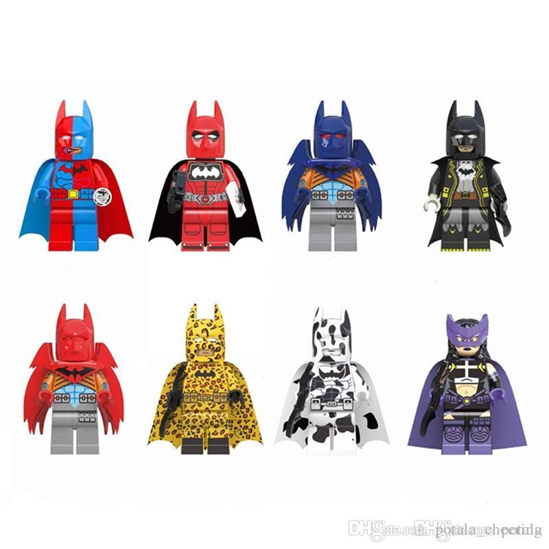 Batman Building Blocks Super Heroes Bricks Puzzles Figure bat man Avengers Super Heroes Leopard Deadpool hulk spiderman ironman superman