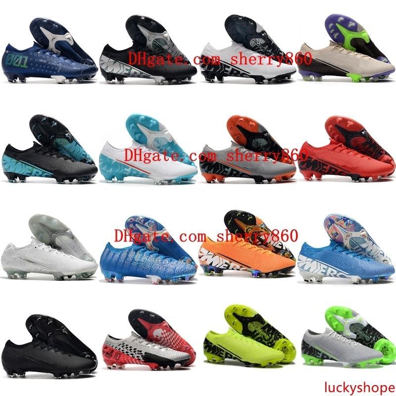 2019 yeni varış erkek futbol ayakkabıları Mercurial Buharlar 13 Elite FG futbol cleats cr7 neymar futbol kramponları Tacos de futbol