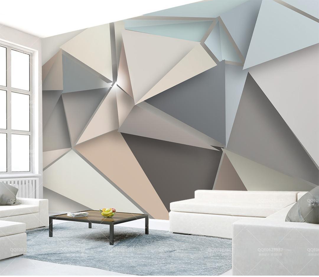 Papier Peint Chambre Moderne acheter téléphone papier peint 3d moderne style minimaliste 3d triangle  salon chambre fond fond décoration murale papier peint murale de $28.15 du