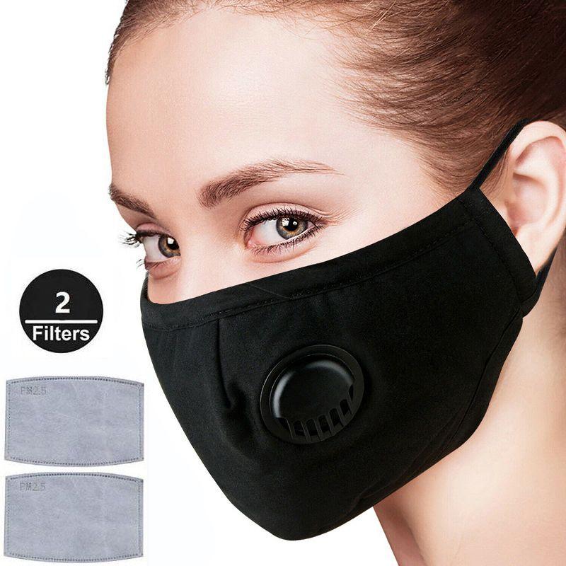 Mascarillas Anti-Polvo de humo y Alergias ajustable Máscara reutilizable con 2 Filtros para el hombre de las mujeres de DHL PM2.5