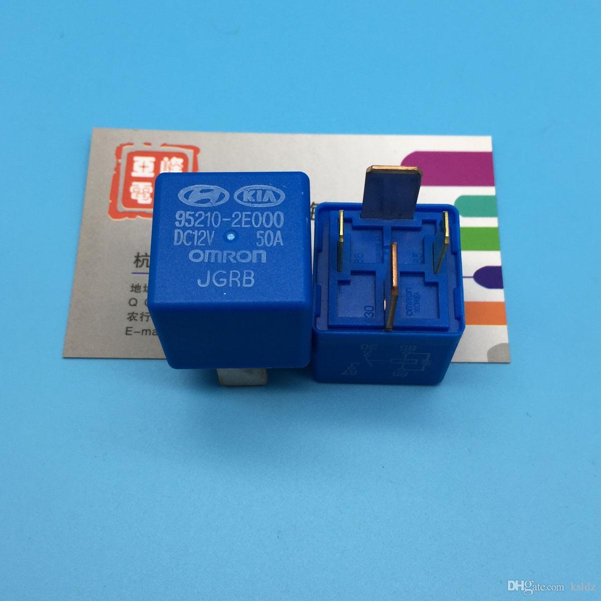 Free shipping lot (10 pieces/lot) 95210-2E000 DC12V 95210-2E000-DC12V 12VDC 50A 4PINS Automobile relay original New