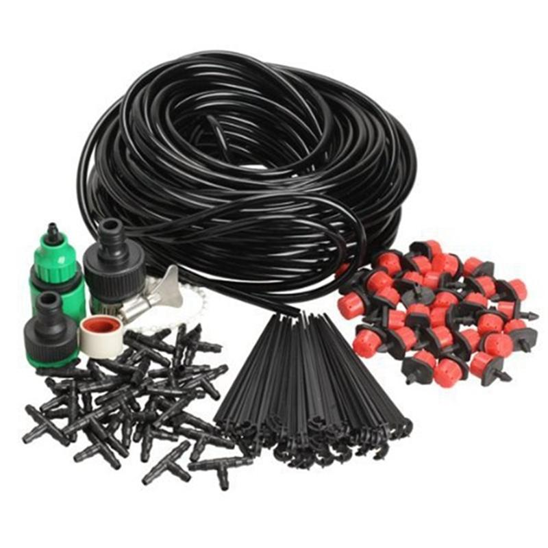 Diy Micro Drip Irrigation System Plant Self Watering Garden Kits With 50m Hose C19041901