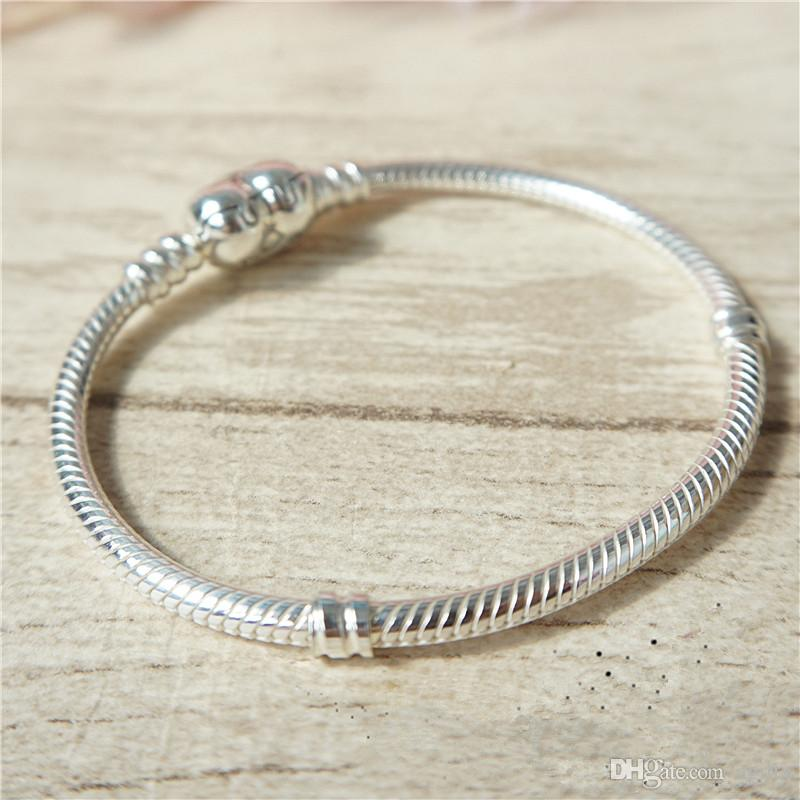 A430 925 Sterling Silver Bead Multi Layer Bracelet Chain Bangle Women Lady New