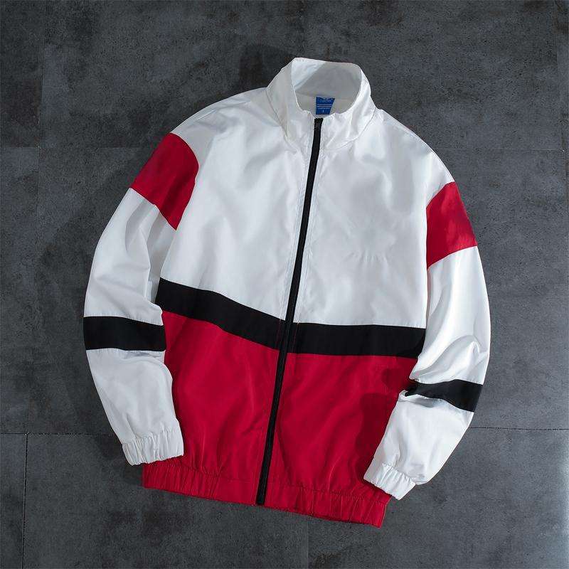 Мужчины женские пальто мода причинно новая куртка с Письмо печати с длинным рукавом пара одежда 2 цвета размер S-2XL Оптовая