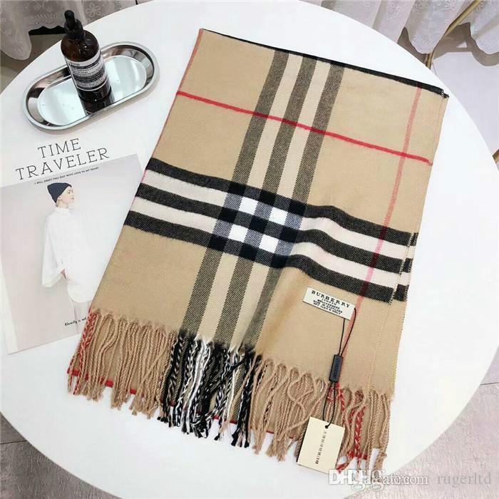 Kış kaşmir atkı tasarımcı klasik marka yün lüks tasarımcı eşarp moda eşarp