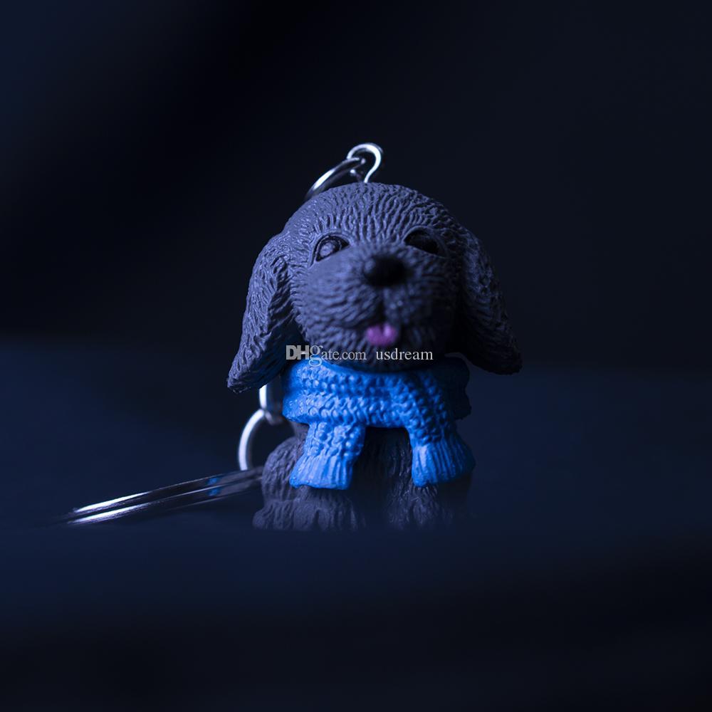 SCARVE собака фигура брелок брелоки игрушки мило новая сумка висит будет и песчаная ювелирные изделия способа перевозка груза падения
