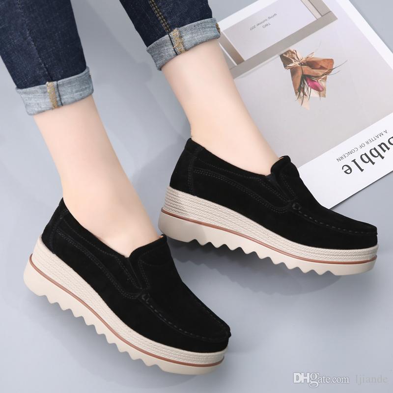 Zapatos Pescador diseñador de zapatos de las mujeres zapatos de cuero genuino plana zapatos casuales terciopelo o ninguna de terciopelo Resbalón-en zapatos de vestir de cuero de estilo de paja