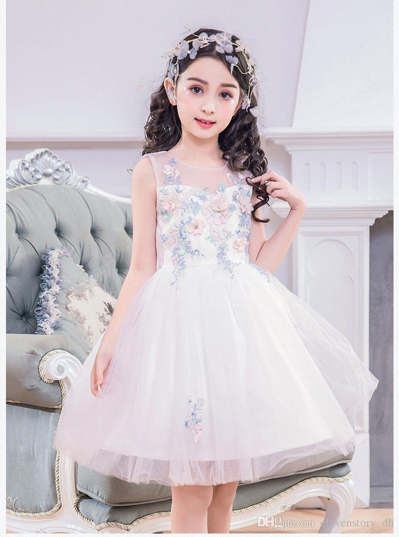 c68475944 Compre De 4 A 12 Años. Vestidos De Verano Para Niñas, Tutu, Sin ...