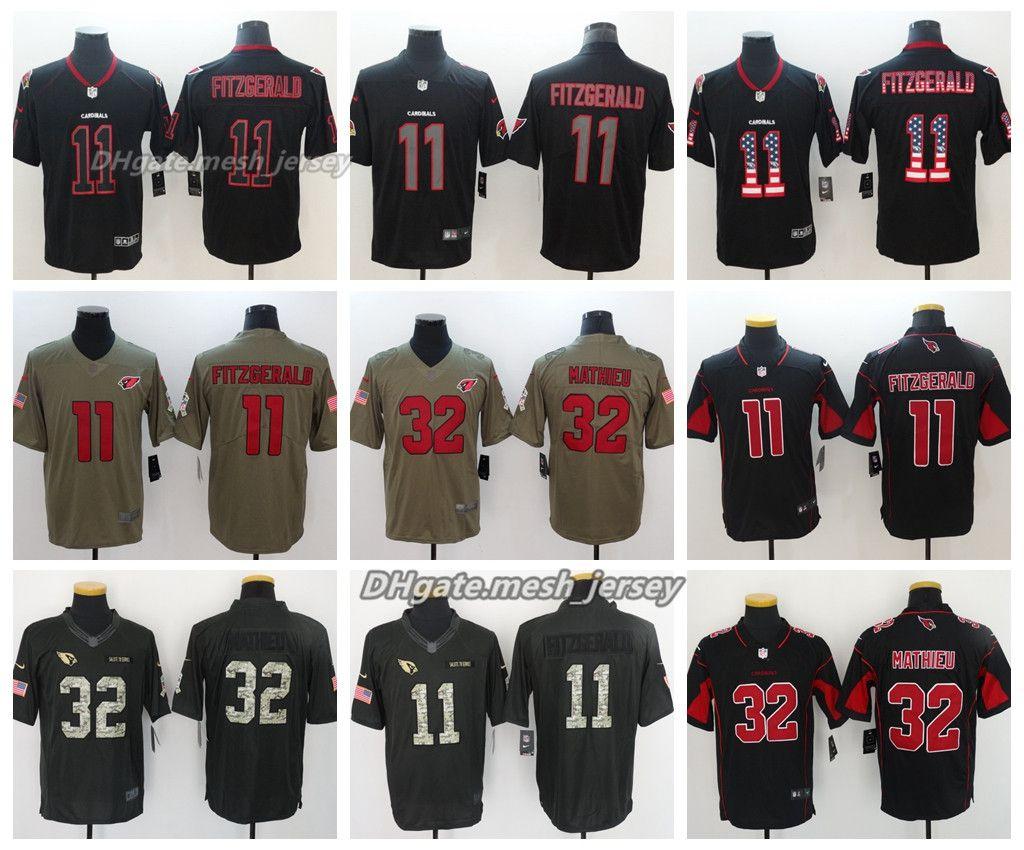 wholesale dealer 35811 5690b 2019 2018 Men Arizona Jersey Cardinals 11 Larry Fitzgerald 32 Tyrann  Mathieu Color Rush Stitching Football Jerseys From Top_jerseys001, &Price;    ...