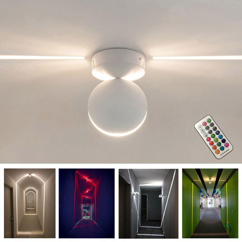 Plafoniera moderna a LED Lampada da parete RGB illuminazione per interni balcone Camera da letto KTV corridoio dell'hotel Lampade da parete a montaggio superficiale con telecomando