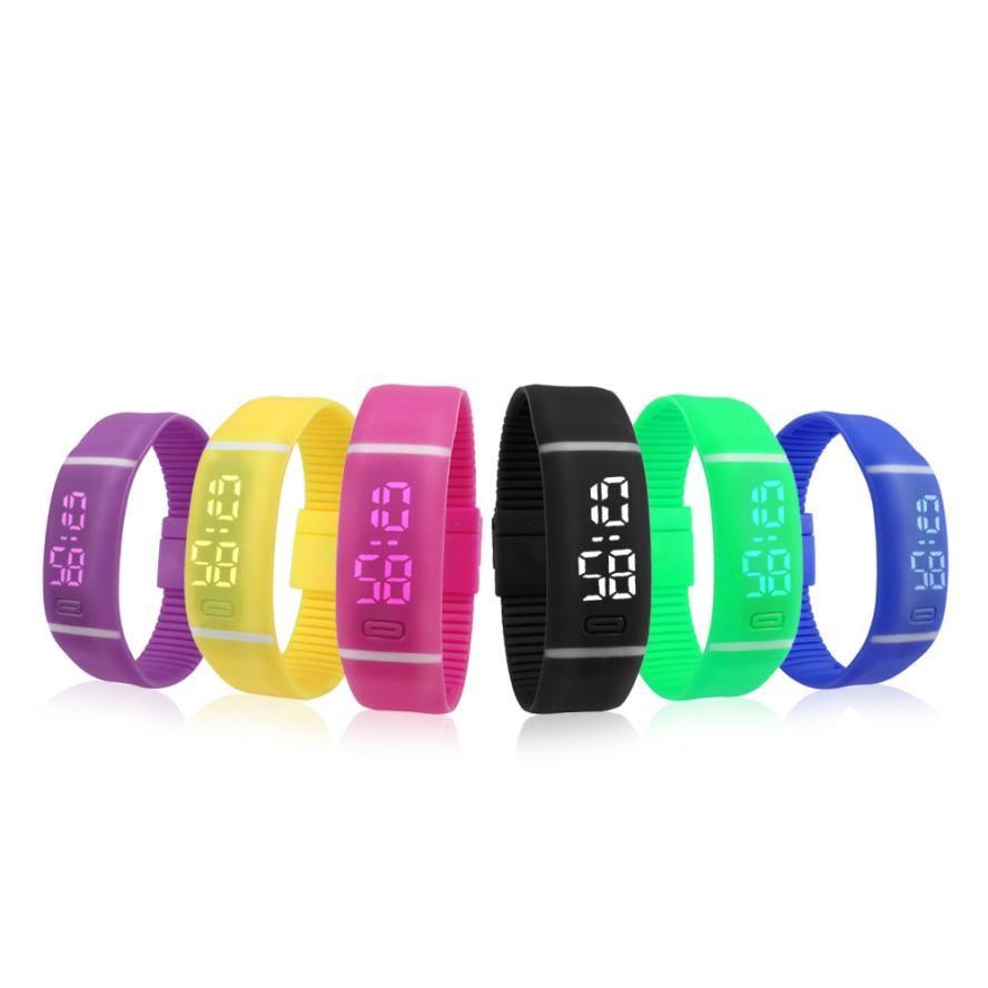 Splendid Luxury Electronic Watch Mens Womens Rubber LED Watch Date Sports Bracelet Digital Wrist Watch