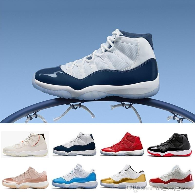 HOT 11 11s 72-10 men women Basketball Shoes high low le white black Platinum Concord Rose Gold Tint Cap and Gown red grey teal j11 Sneakers