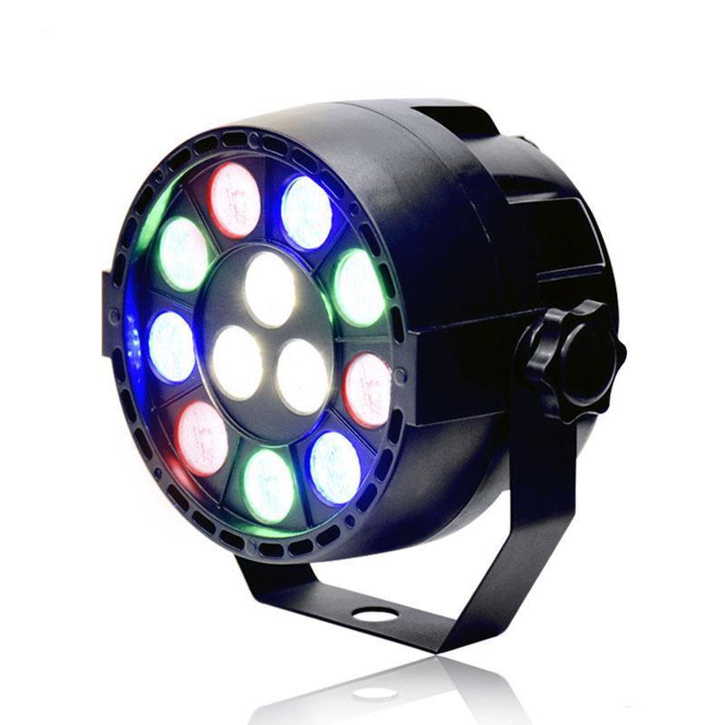 15W RGBW 12 LED PAR Light DMX512 التحكم في الصوت الملونة أدى ضوء المرحلة ضوء للموسيقى الحفل بار KTV ديسكو تأثير الإضاءة