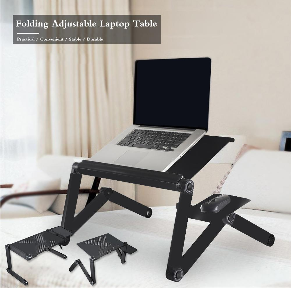 Foldable Portable Notebook Laptop Desk Table Stand Bed Tray With Cooling Fans