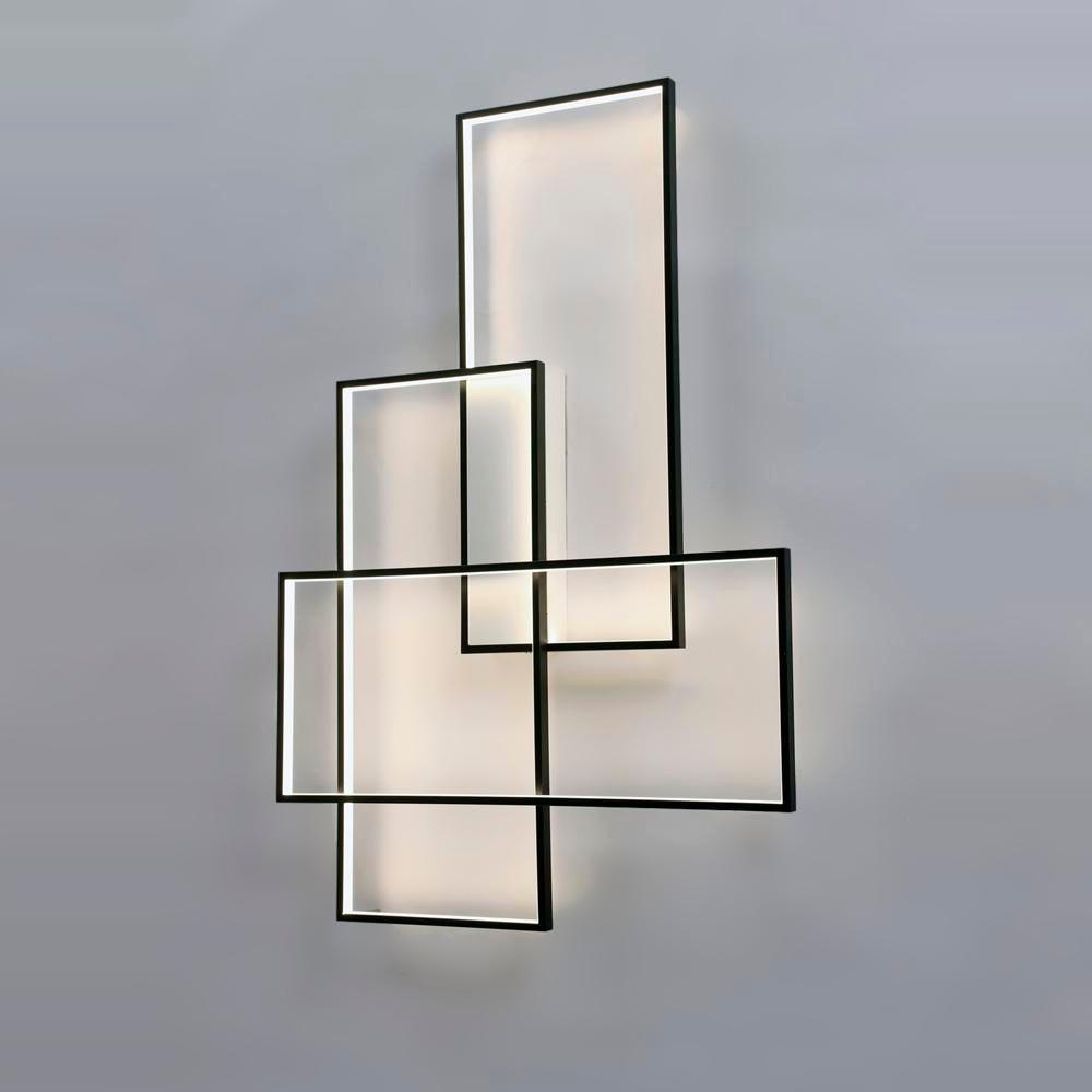 Lampada da parete Sconces LED Lighting Designer rettangolare in alluminio Living room bed Scale Wall Light