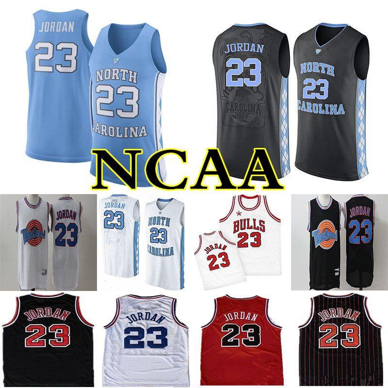 Men's 23 Michael Jersey Space Jam Tune Squad NCAA North Carolina Tar Heels Jersey Basketball Jerseys