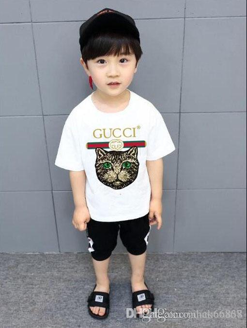 cotone lettera di modo maglietta a maniche corte casuale qualità T-shirt shirt T-shirt YY1 clothin bambini a maniche corte per bambini