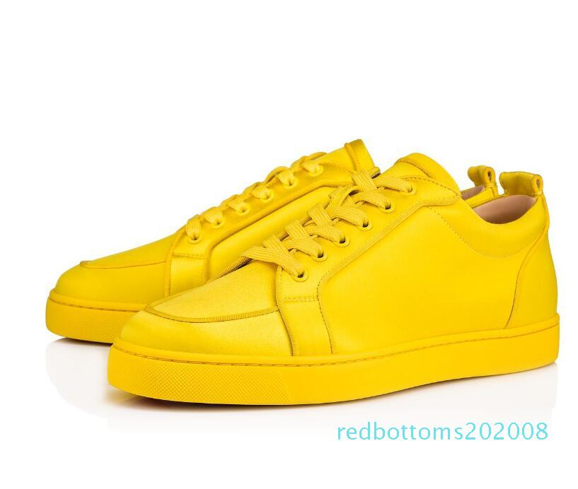 Estate Red Sole Junior Rantulow scarpe da tennis piane delle donne degli uomini rossi inferiore Skateboard Designer Walking Shoes Calzature R08