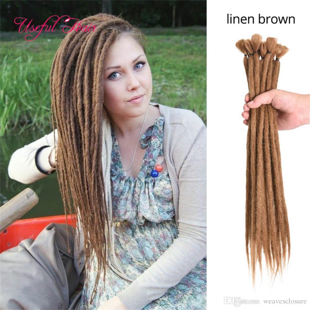 Sintetico di estensioni dei capelli Ochet Trecce Borgogna Blu Marrone Arancione Dreadlocks 55g / pack estensione sintetica dei capelli per donne di colore dei capelli Passion