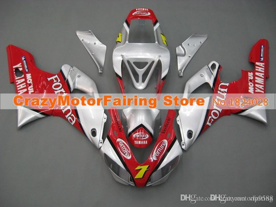 3Gifts New Hot sales bike Fairings Kits For YAMAHA YZF-R1 1998 1999 r1 98 99 YZF1000 Cool red silver