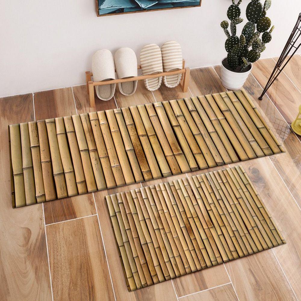 대나무 크리스탈 벨벳 깔개와 카펫 키즈 베이비 홈 거실 자연 SPA 쿠션 침실 부엌 문 바닥 목욕 매트