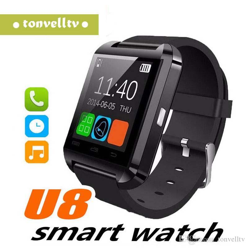 Smartwatch bluetooth u8 dz09 smart watch para iphone 6 puls 5s samsung s4 nota 3 htc android smartphones telefone android wear