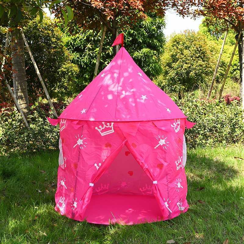 야외 캠핑 텐트 공주 왕자 성 텐트 접이식 키즈 플레이 하우스 실내 어린이 장난감