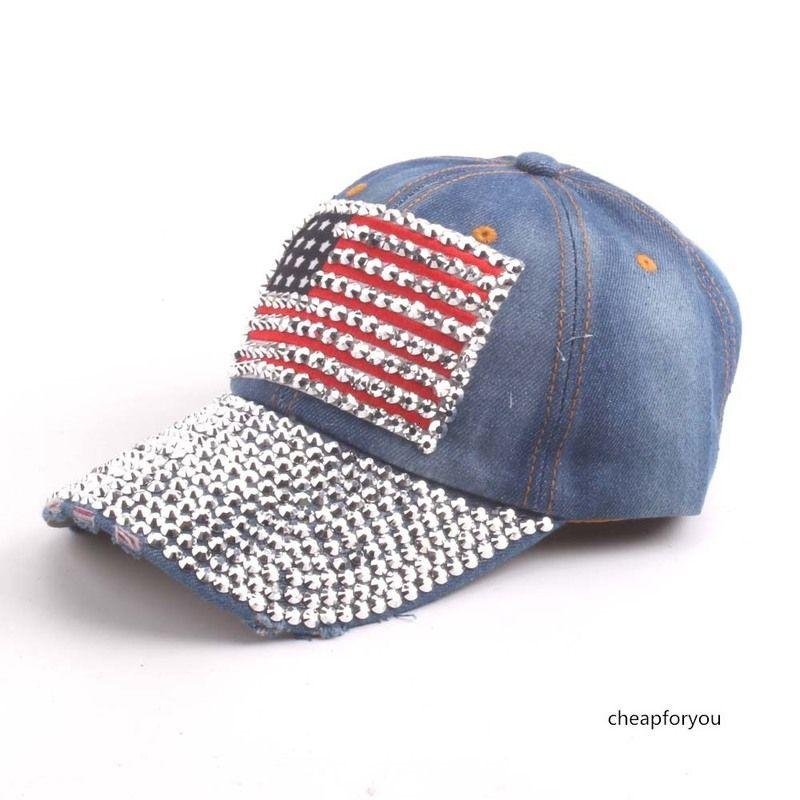 dos homens bandeira adulto Cowboy beisebol americano e boné de diamantes de Mulheres Viagem sol chapéu feito à mão quente