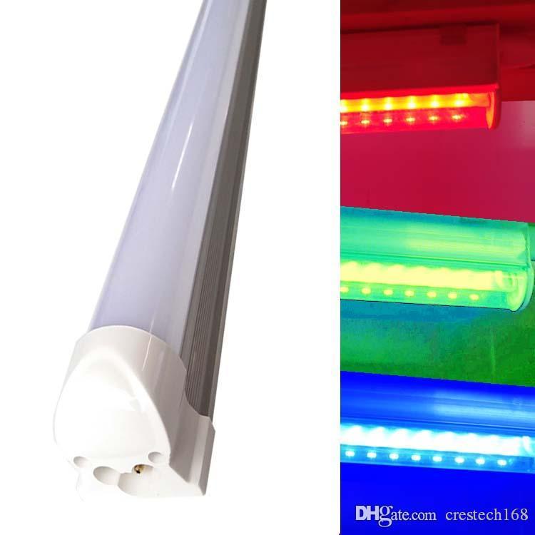 파란 색깔 T8LED 관 빛,두 배 줄 다채로운 빨간 녹색 황색은,유백색 덮개,CRESTECH 상표 led 막대기 빛을 서리로 덥었습니다