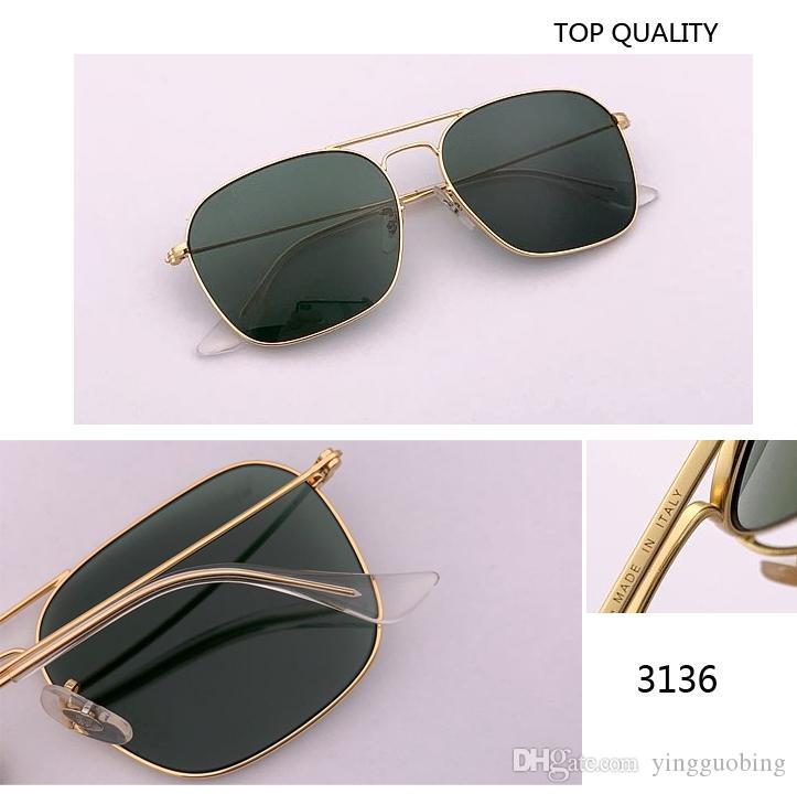 2020 موضة جديدة أعلى جودة قافلة النساء الرجال مربع نظارات شمسية خمر G15 3136 النظارات مصمم العلامة التجارية GAFAS UV400 حماية ريترو الشمس