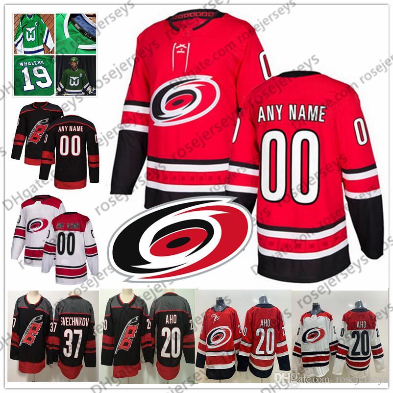 2019 Carolina Hurricanes Black Third Jersey #18 Ryan Dzingel 56 Erik Haula 21 Nino Niederreiter 34 James Reimer 31 Anton Forsberg Red White