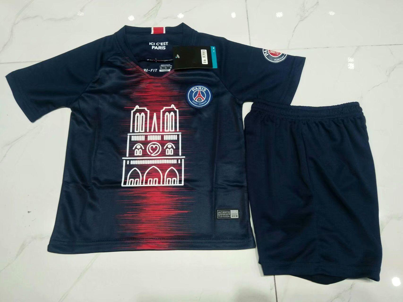 lowest price 00f36 b1654 2019 PSG Notre Dame Soccer Jersey Kits Notre Dame 19 20 MBAPPE CAVANI Saint  Germain DANI ALVES Mbappé DI MARIA Thailand 2019 2020 Football Shirt From  ...