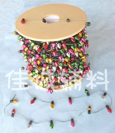 50m Colorful Mini plastica String Lights Not Light Lampada Fai da te Albero di Natale Decorazione Artigianato Necklase Artigianato 4 stili Y19061103