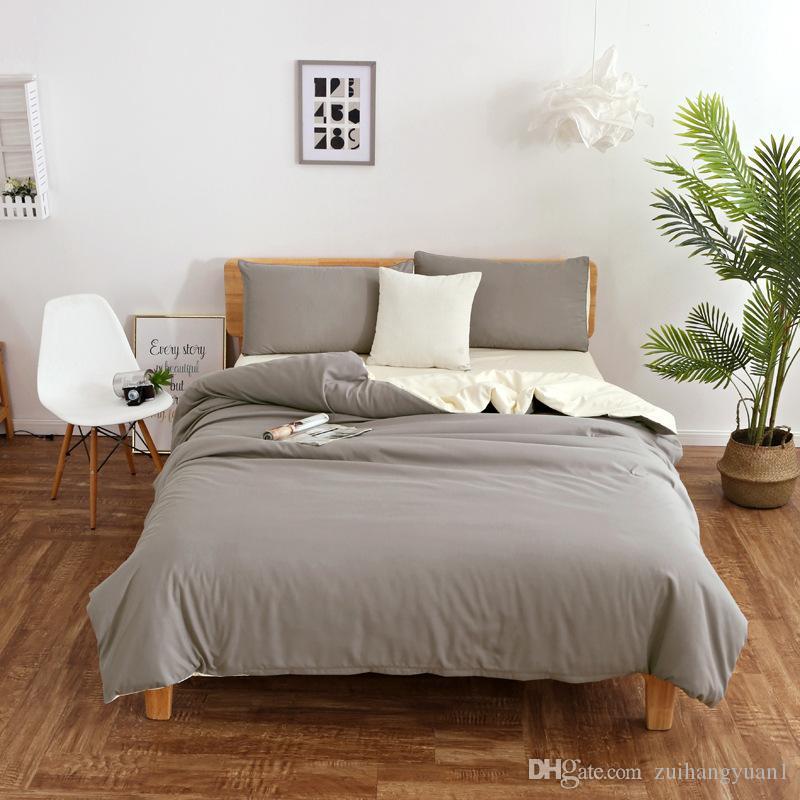 Schlafzimmer Bettwäsche Stripe Home Textile Bettwäsche-Set Superfine Faser-Karikatur-Art-4 Kissen- Familie Luxustextilien