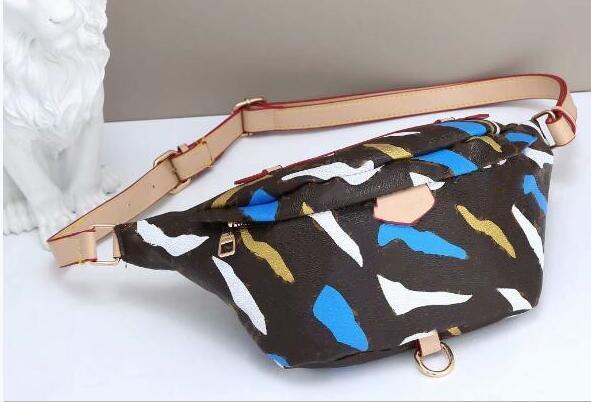 Высокое качество бесплатная доставка новый граффити грудь сумка женский пояс мужской поясной мешок дизайнер мужской небольшой мешок граффити живот