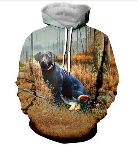 Neue Mode Hoodies Labrador Retriever Schöne Jagd Ente 3D Print Männer Frauen Sport Sweatshirt Designer Hoodie Pullover Streetwear LMS0115