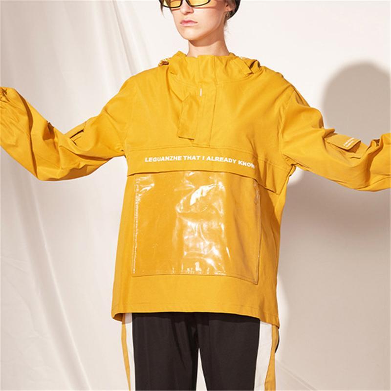 Street Damen Herren Designermarken mit Kapuze Windjacken Mode Brief drucken Tasche Jacke Mäntel Oberbekleidung Top-Qualität Winter-B101778V