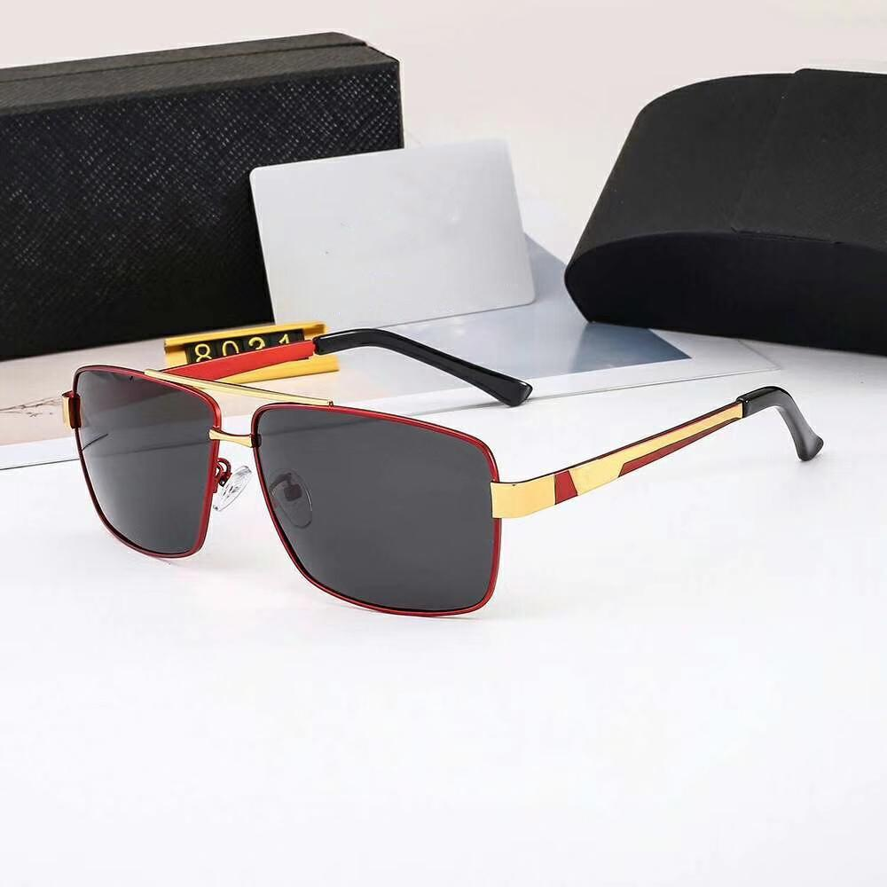 luxury- Mens Sunglasses Design Man Sunglasses Summer Goggle Glasses P 8031 UV400 4 Colors Highly Quality with Box