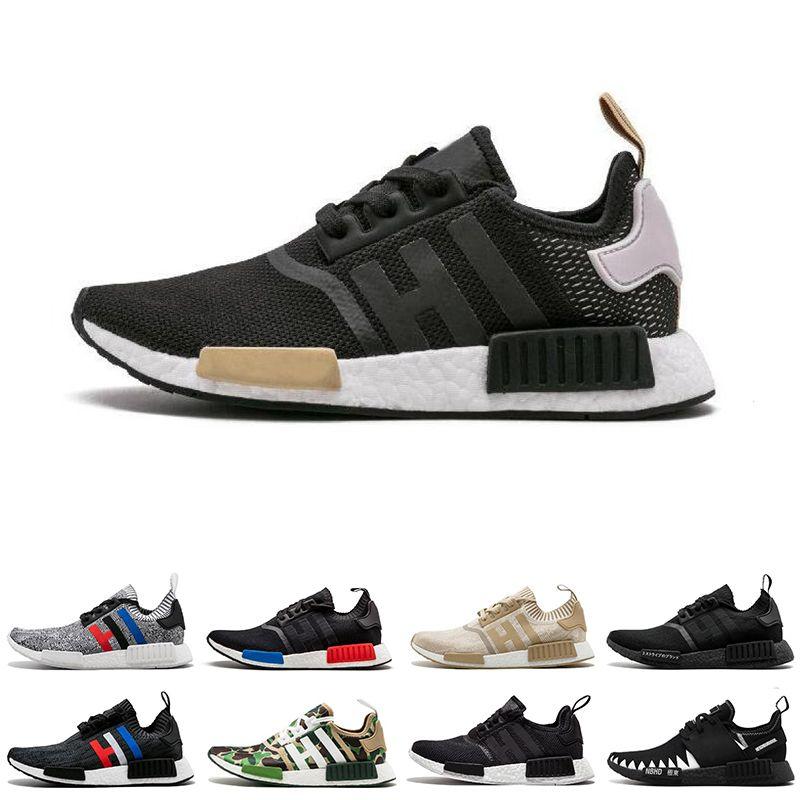 new style 0a199 4e30f 2018 R1 Mens Running Shoes Triple Black White Beige White Blue NBHD OG Men  Women Runner Sports Sneakers 36 45 From Starstore2018, &Price; | DHgate.Com