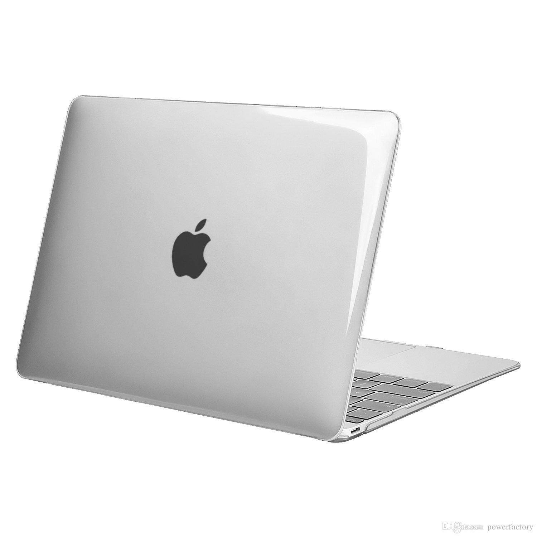 Estuche para MacBook air pro 11 12 13 pulgadas Estuche de plástico transparente y transparente Plástico de cuerpo completo Estuche Funda A1369 A1466 A1708 A1278 A1465