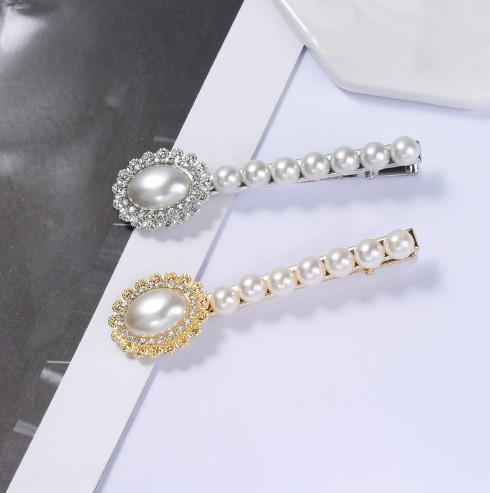 Pinzas para el cabello de perlas para mujeres niñas (doradas, plateadas), perlas artificiales y pernos de pelo de boda decorativos accesorios para el cabello