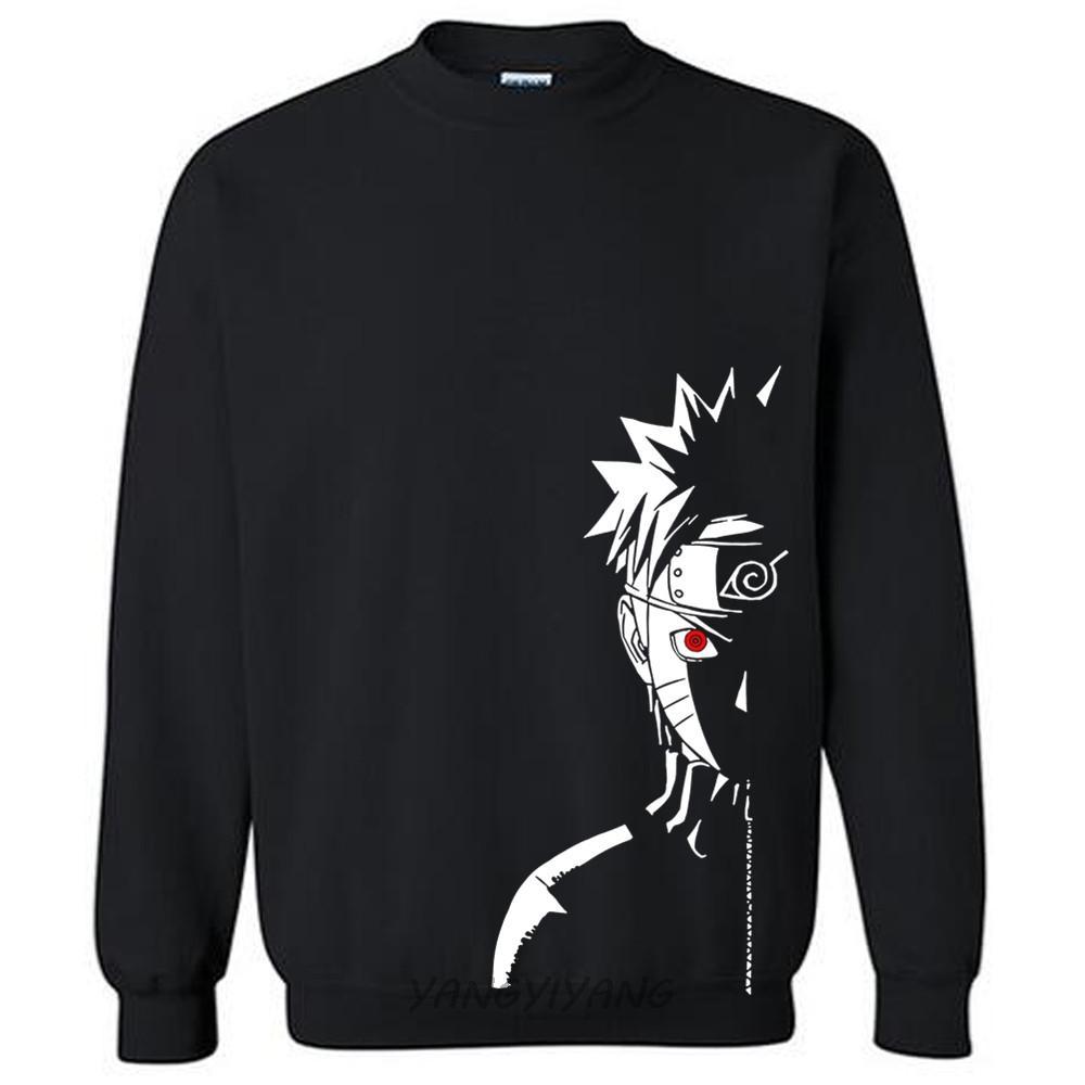 algodón masculina hoodies Shippuden Red Sun animado impresión de los hombres de la camiseta del otoño de lujo sudaderas o-cuello nuevas