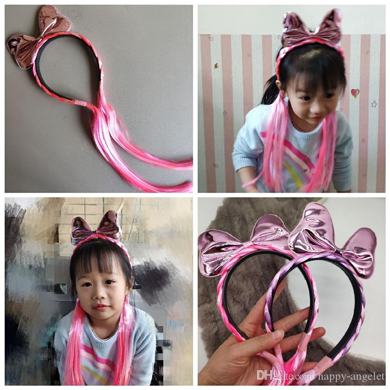 Colorful Headwear Kids Rainbow Headband Unicorn Horn Hair Band Baby Tiara
