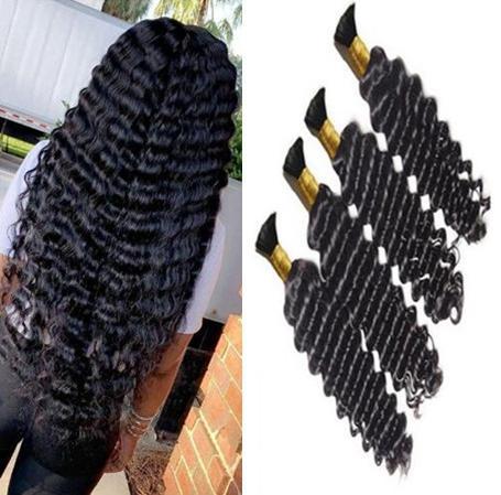 Capelli all'ingrosso per intrecciare 9A onda tende mongolia per capelli umani Bulk riccio riccio 16-28 pollici senza spargimento