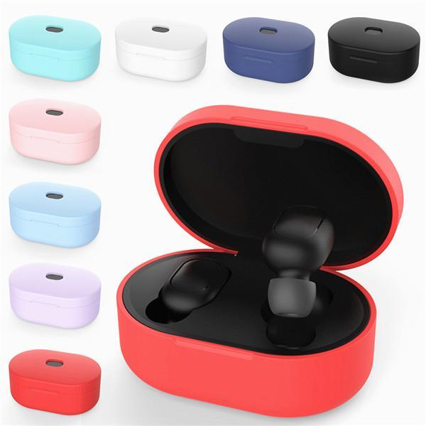 Full cover Shockproof Silicone TPU Protective Case For Mi Airdots Earphone Box Case Cover
